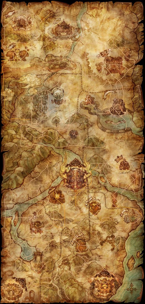 Mishekan Forest World Map Tree of Savior Fan Base